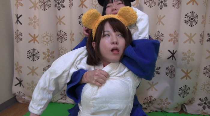 女子柔道絞め技失神12