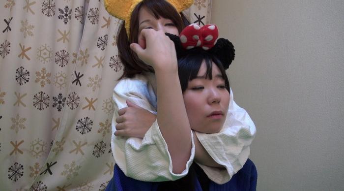 女子柔道絞め技失神3