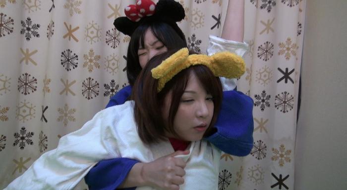女子柔道絞め技失神5