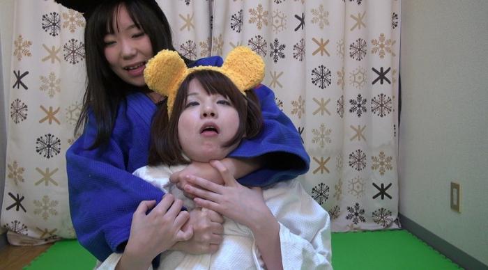 女子柔道絞め技失神7