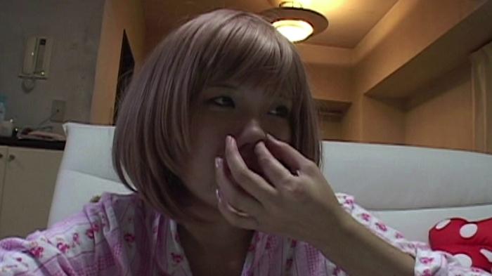 女の鼻クソほじり10