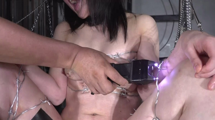 SM調教でロリ女を鞭叩く、ビンタ21