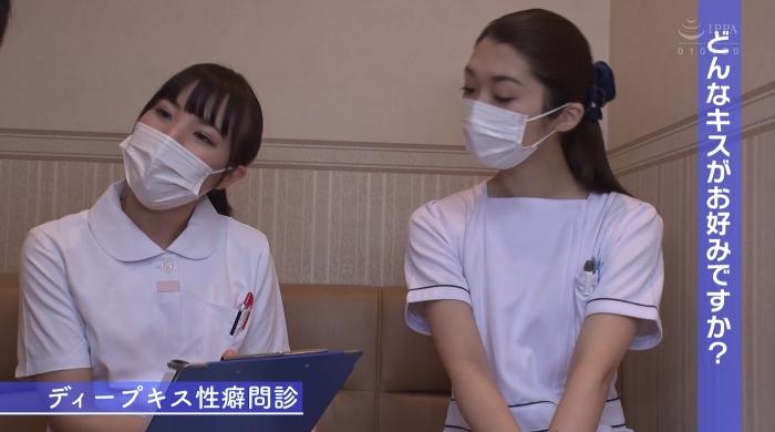 歯医者で歯科衛生士の女性にディープキスされながら治療23