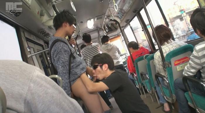 ジャニ系モデル蒼が痴漢だらけのバスに乗ってしまい、アナルを犯され複数人からぶっかけられる!20