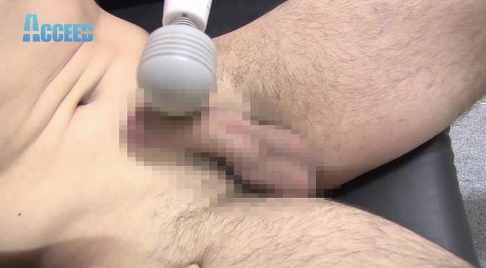 バレーボールで鍛えたガッチリ体型! 色白イケメン「遣都」右曲がりのペニスから ドピュッっと発射!!6