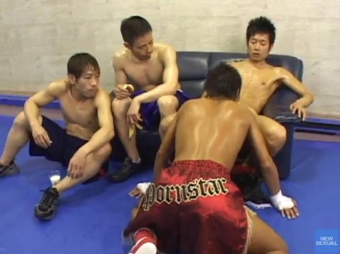 調教 野郎ボクシングジム「人間サンドバック/精子プロテイン」46