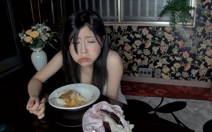 自画撮りうんこカレー食糞ビデオ2,12