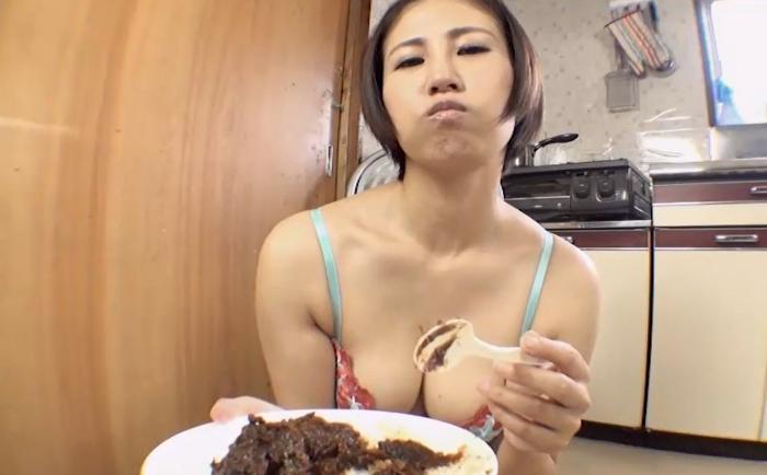 自画撮りうんこカレー食糞ビデオ2,15