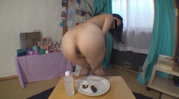 自画撮りうんこカレー食糞ビデオ2,5
